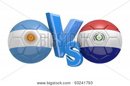 Football competition, national teams Argentina vs Paraguay