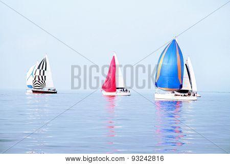 Sailing on the IJsselmeer in the Netherlands