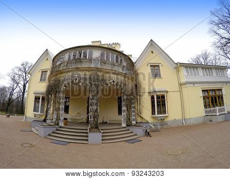 The Cottage palace the central architectural construction of ensemble Alexandria Russia.