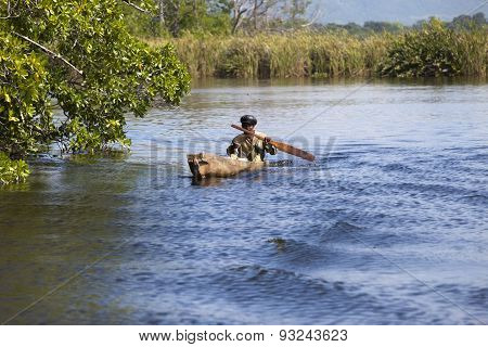 JAMAICA- OCTOBER 29: The local fisherman catches fish in Black river on october 29 2011 in Jamaica