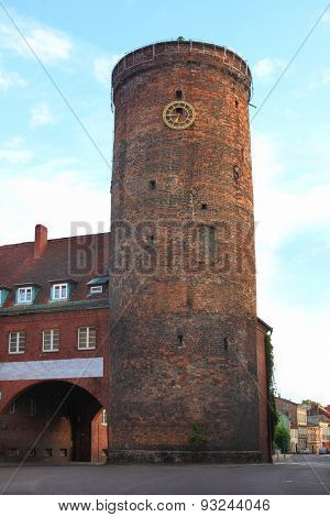 Tower with Gate in Lubsko Poland