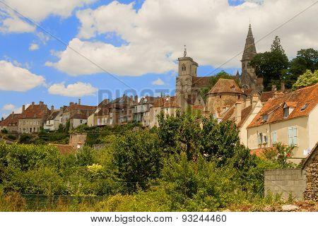Medieval Town Semur En Auxois, Burgundy, France.