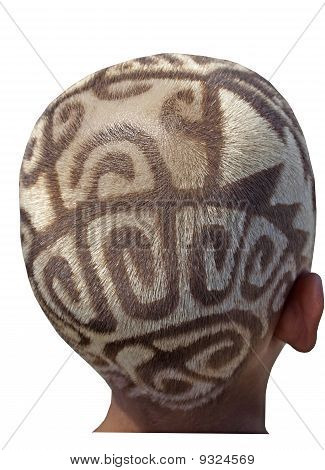 Hair Etching Or Tattooing - Tribal