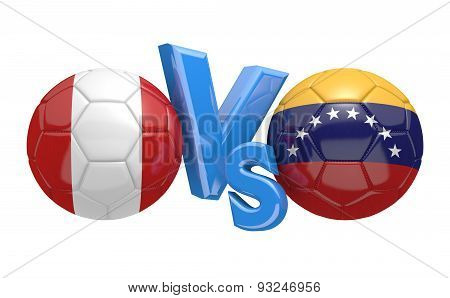 Football competition, national teams Peru vs Venezuela