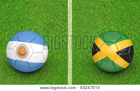 2015 football tournament, teams Argentina vs Jamaica