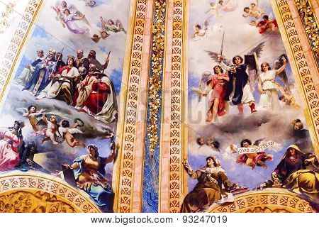 Angels King Frescos Dome San Francisco El Grande Royal Basilica Madrid Spain