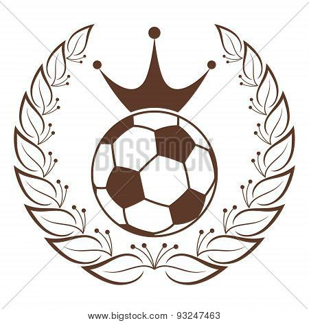 Soccer ball with Vintage Crown