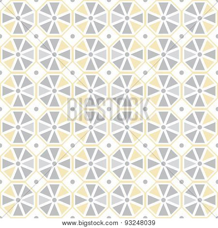 Vector seamless pattern. Stylish geometric seamless texture of colored hexagons.