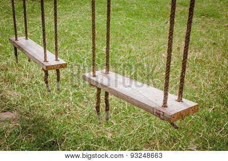 Old Wooden Tree Swing