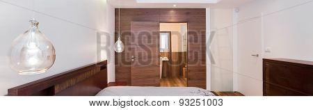 Wooden Entrance To Bedroom