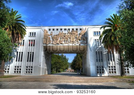 The Main Entrance To University Of Concepcion, Chile