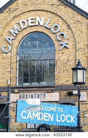Entrance Ensign Of Camden Lock Market In London