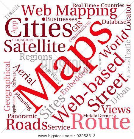 Maps Word Cloud