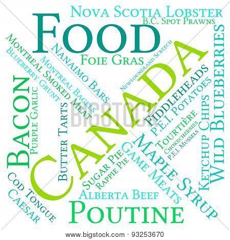 Canada Food Word Cloud