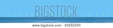 Wind power turbines horizontal