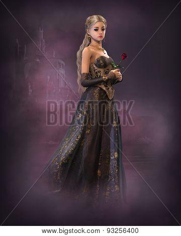 Elegant Fairytale Princess, 3D Cg