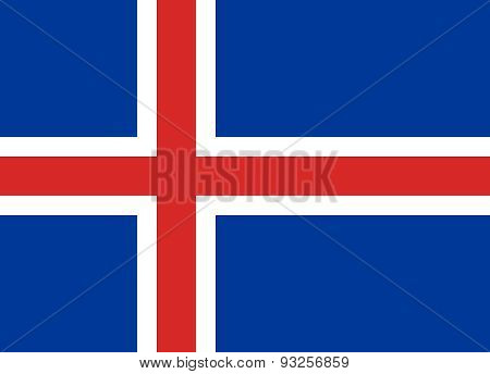 Flag Of Iceland Horizontal