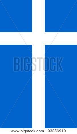Flag Of Shetland Vertical