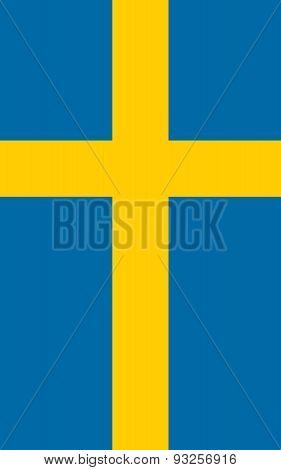 Flag Of Sweden Vertical