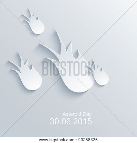 Vector modern asteroid day background.
