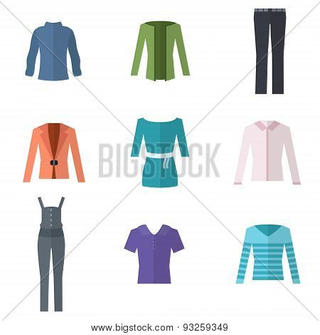 Woman clothing set.