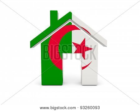 Home With Flag Of Algeria