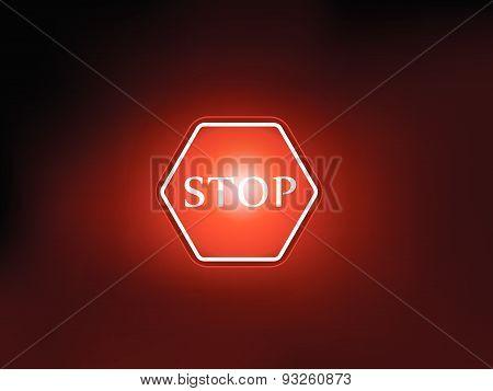 stop sign symbol background vector deisgn