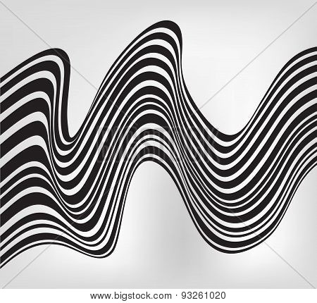 Abstract Mobious Wave Vector Vibrant Optical Background