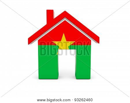 Home With Flag Of Burkina Faso