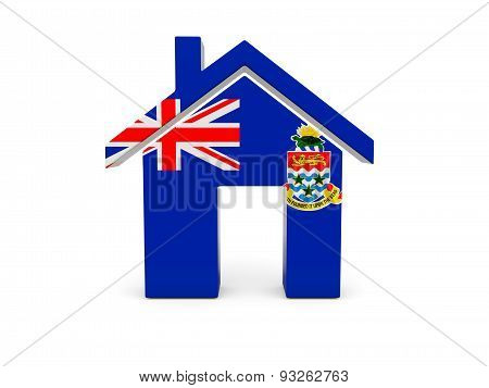 Home With Flag Of Cayman Islands