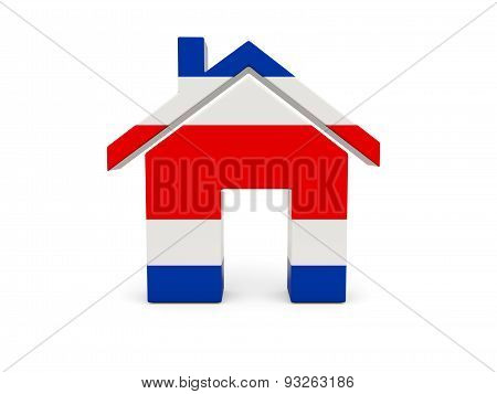 Home With Flag Of Costa Rica