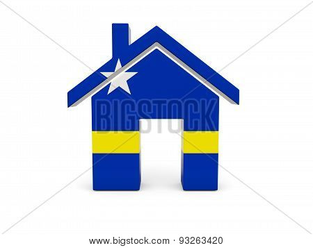 Home With Flag Of Curacao