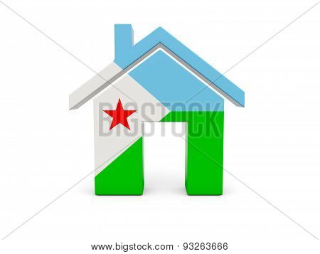 Home With Flag Of Djibouti
