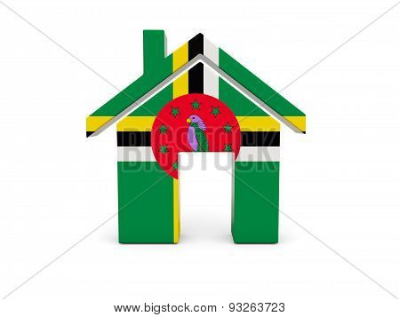 Home With Flag Of Dominica