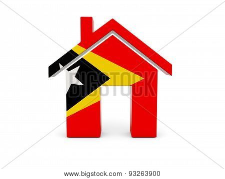 Home With Flag Of East Timor