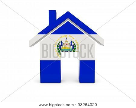 Home With Flag Of El Salvador