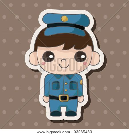 Policeman Theme Elements
