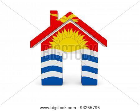 Home With Flag Of Kiribati