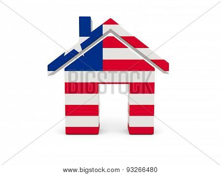 Home With Flag Of Liberia