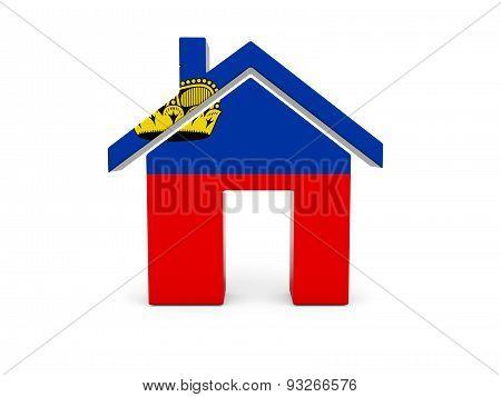 Home With Flag Of Liechtenstein