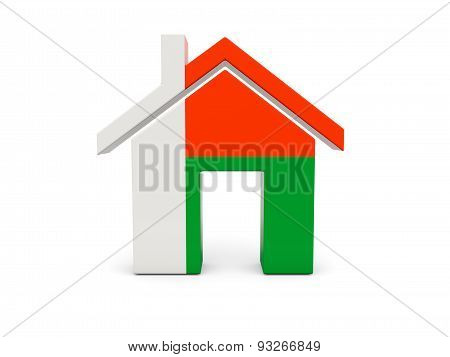Home With Flag Of Madagascar