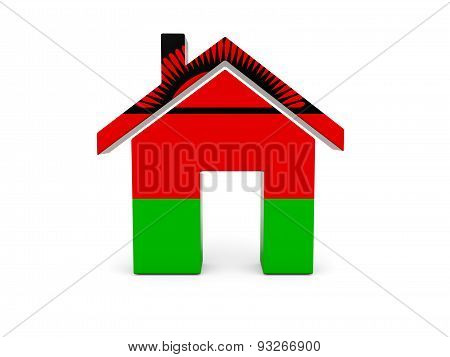 Home With Flag Of Malawi