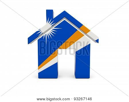 Home With Flag Of Marshall Islands