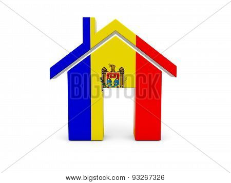 Home With Flag Of Moldova