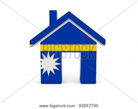 Home With Flag Of Nauru