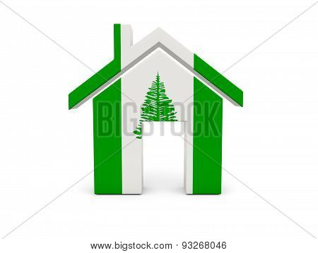 Home With Flag Of Norfolk Island