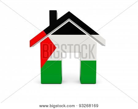 Home With Flag Of Palestinian Territory