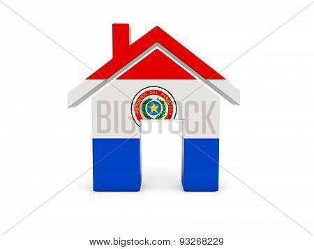 Home With Flag Of Paraguay