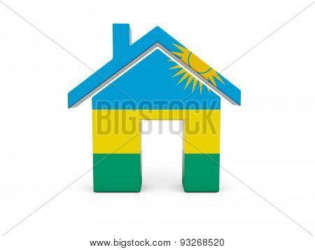 Home With Flag Of Rwanda