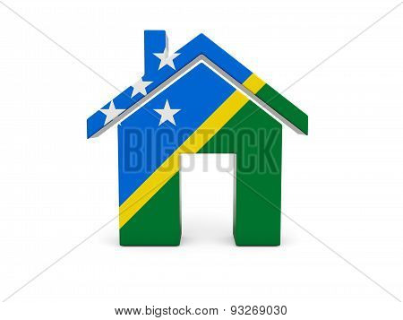 Home With Flag Of Solomon Islands